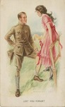 """""""Lest You Forget"""" Postcard by Alphonse Lagarde"""