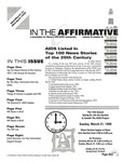 In the Affirmative, Vol.6, No.3 (Mid-March/Mid-April1999) by Mick Martin and The AIDS Project