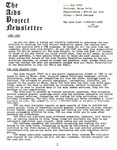 The AIDS Project Newsletter (June 1987) by David Ketchum and The AIDS Project