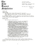 The AIDS Project Newsletter (August 1987)