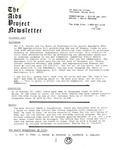 The AIDS Project Newsletter (November 1987) by David Ketchum and The AIDS Project