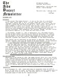 The AIDS Project Newsletter (December 1987) by David Ketchum and The AIDS Project