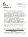 The AIDS Project Newsletter (January 1988) by David Ketchum and The AIDS Project