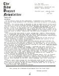 The AIDS Project Newsletter (March 1988) by David Ketchum and The AIDS Project