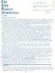 The AIDS Project Newsletter (May 1988) by David Ketchum and The AIDS Project