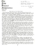 The AIDS Project Newsletter (August 1988) by David Ketchum and The AIDS Project