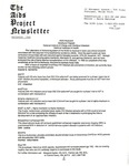 The AIDS Project Newsletter (November 1988) by David Ketchum and The AIDS Project