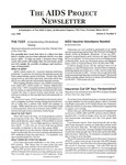 The AIDS Project Newsletter, Vol.2, No.5 (July 1989) by David Ketchum and The AIDS Project