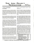The AIDS Project Newsletter, Vol.4, No.1 (Spring 1991) by Jeffrey Levensaler and The AIDS Project