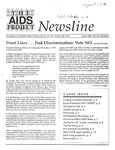 The AIDS Project Newsline, Vol.5, No.2 (August 1992) by Jeffrey Levensaler, Amanda Coffin, and The AIDS Project