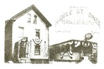 Middle Street Diner Postcard by Franco-American Collection