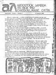 Aroostook Lambda, Vol. 1, No. 1 (January 1980)