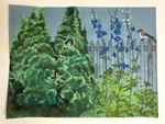 Three Garden Visitors by Vivien Russe by VIvien Russe