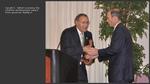 Gerald E. Talbot receiving the Lifetime Acheivement award from Governor Baldacci