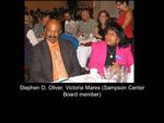 Stephen D. Oliver, Victoria Mares (Sampson Center Board Member)