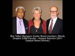 Bob Talbot (Sampson Center Board Member), Wendy Chapkis (USM Faculty), Howard Solomon (2011 Catalyst Award Winner)