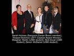 Sarah Holmes (Sampson Center Board Member), Howard Solomon (2011 Catalyst Award Winner), Meaghan Martin (USM Student), Nick Duval (USM Student), Devon McDaniel (USM Student)