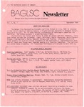 BAGLSC Newsletter, Vol.1, No.1 (September 1984)