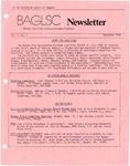 BAGLSC Newsletter, Vol.1, No.1 (September 1984) by Lee K. Nicoloff, Richard Forcier, and Bangor Area Gay Lesbian Straight Coalition