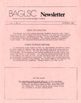 BAGLSC Newsletter, Vol.2, No.2 (April/May 1985) by Lee K. Nicoloff, Richard Forcier, and Bangor Area Gay Lesbian Straight Coalition