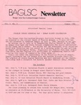 BAGLSC Newsletter, Vol.4, No.3 (Summer 1986)