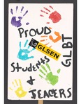 """""""Proud GLBT Students + Teachers"""" sign by Betsy Parsons"""