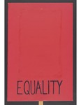 """""""Equality"""" sign by Betsy Parsons"""