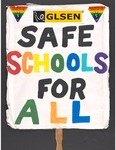 """Safe Schools for All"""" sign by Betsy Parsons"""