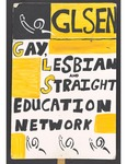 """""""GLSEN"""" sign by Betsy Parsons"""
