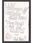 """""""Thou Shalt Not Eat Clams"""" sign by Betsy Parsons"""
