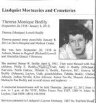 Theresa Monique Bodily [Monica Lowell] Obituary
