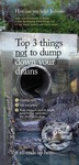 Portland Waterfront Sign: Top Three Things Not to Dump Down Your Drains