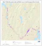 Presumpscot River Corridor Map 3: Public Recreation Lands and Public Access (Map)