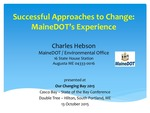 Successful Approaches to Change-MaineDOT's Experience (2015 State of the Bay Presentation)