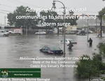 Adapting Maine's coastal communities to sea level rise and storm surge (2015 State of the Bay Presentation) by Peter Slovinsky