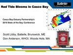 Red Tide Blooms in Casco Bay (2010 State of the Bay Presentation)
