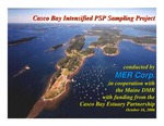 Casco Bay Intensified PSP Sampling Project by MER Corporation and Maine Department of Marine Resources