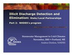 Illicit Discharge Detection and Elimination: State/Local Partnerships; Part 2: NHDES's program (2013 Stormwater Management in Cold Climates Presentation)