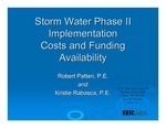 Storm Water Phase II Implementation Costs and Funding Availability