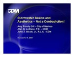 Stormwater Basins and Aesthetics – Not a Contradiction! by Amy Prouty Gill, Alan G. LeBlanc, and John Z. Olcott Jr.