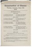 Gorham Normal School Commencement Program 1913