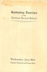 Gorham Normal School Commencement Program 1923