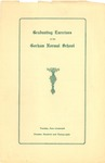 Gorham Normal School Commencement Program 1928