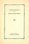 Gorham Normal School Commencement Program 1935