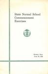 Gorham Normal School Commencement Program 1938