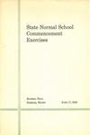 Gorham Normal School Commencement Program 1940