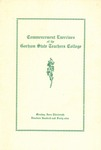 Gorham State Teachers College Commencement Program 1949