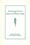 Gorham State Teachers College Commencement Program 1951