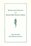 Gorham State Teachers College Commencement Program 1953