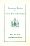 Gorham State Teachers College Commencement Program 1954